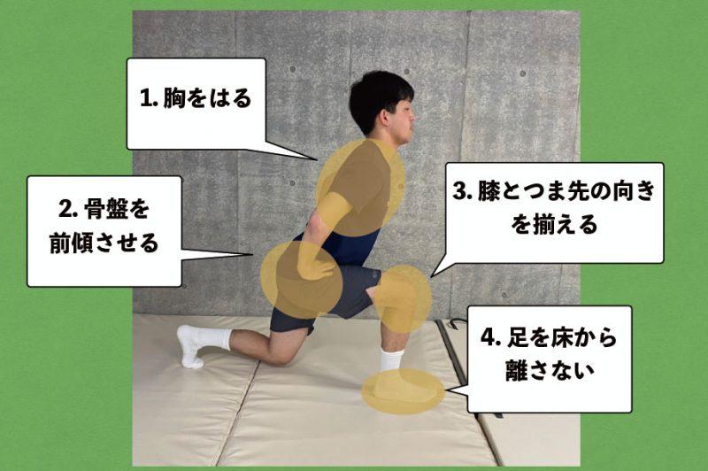 ランジの姿勢のポイント図解